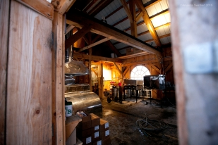 Inside the sugarhouse